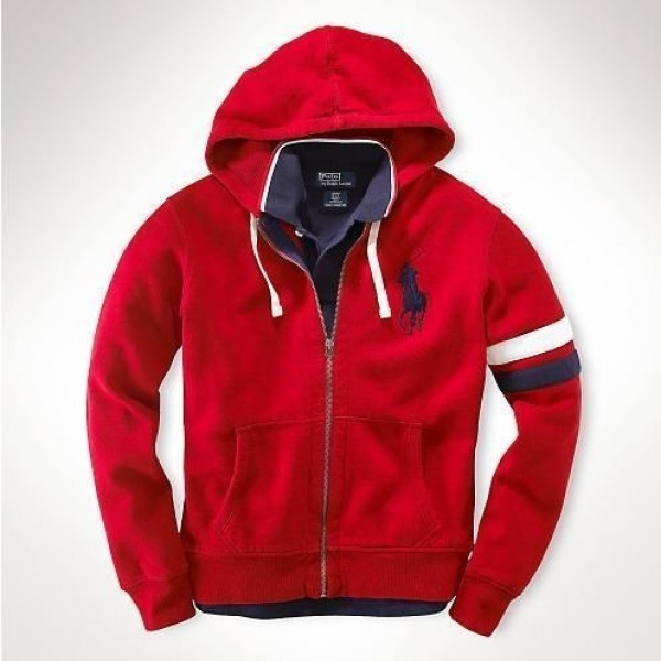 Ralph Lauren Outlet Store Sale | Mens Hoodies Bright Red In New